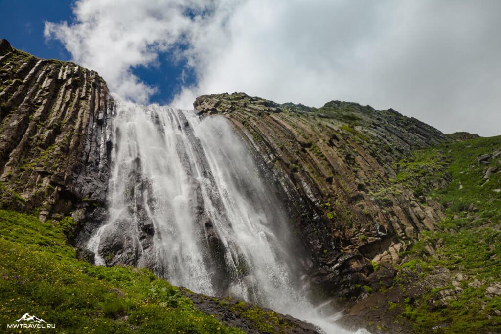 12 водопад терскол в приэльбрусье