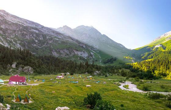 Маршрут № 30, поход через горы Кавказа к морю гора Фишт