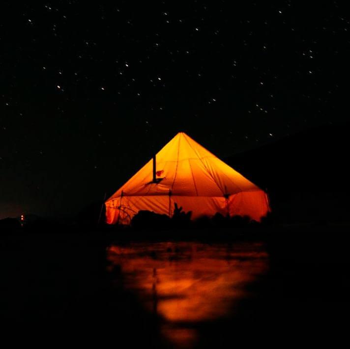 Палатка для похода по Байкалу зимой