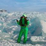 ледяные торосы на байкале зимой