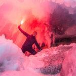 ледовые гроты на байкале зимой