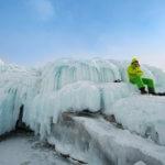 ледовые наплески на байкале