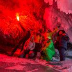 ледовые пещеры на байкале зимой