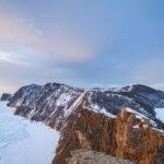 панорама байкала и острова ольхон в феврале