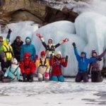 поход по льду байкала в феврале