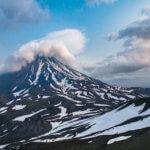 Поход по Камчатке: козельский вулкан вид с авачинского вулкана