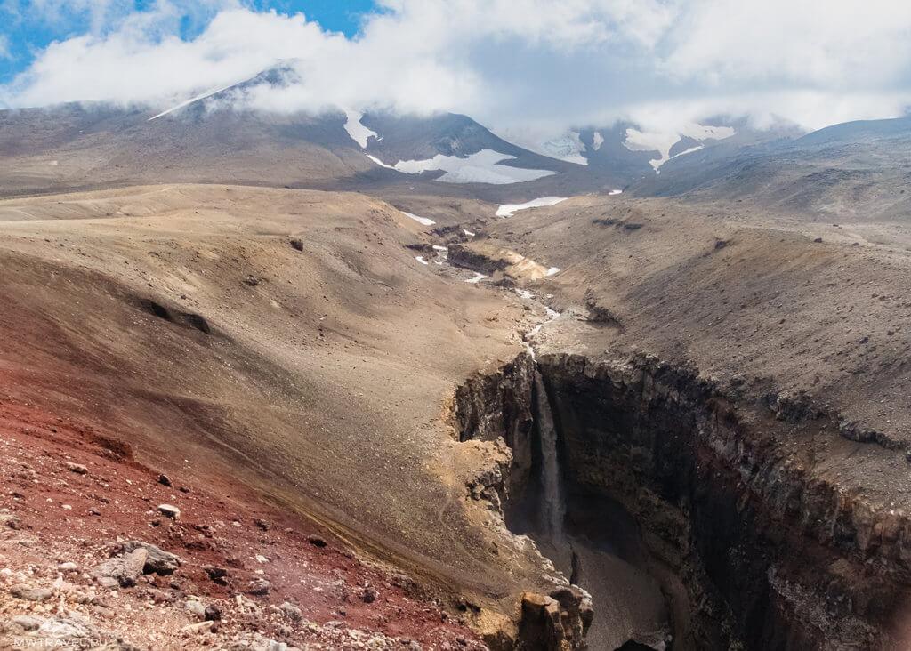 Поход по Камчатке: водопад каньон опасный