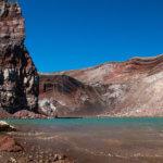 Поход по Камчатке: озеро в кратере вулкана горелый