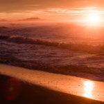камчатка закат океан халактырский пляж