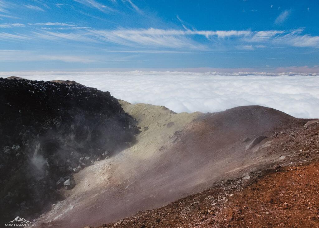 Поход по Камчатке: вид с кратера авачинского вулкана