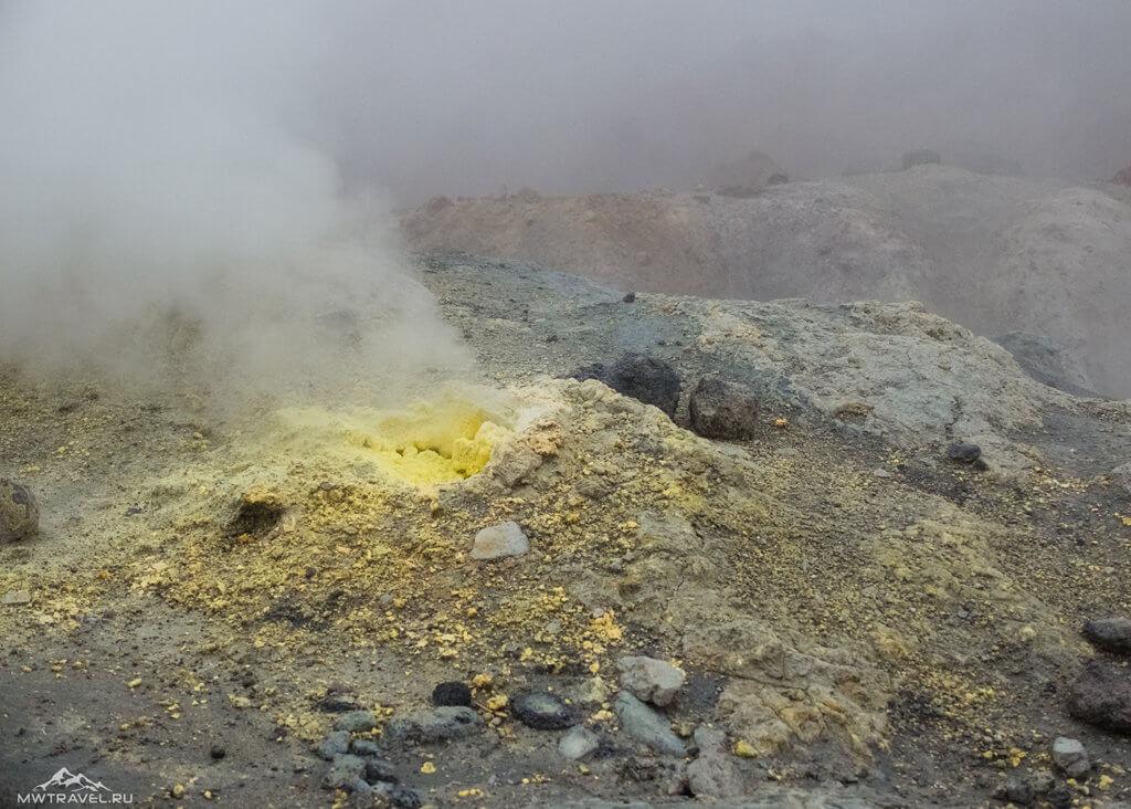 вулкан мутновский фумаролы