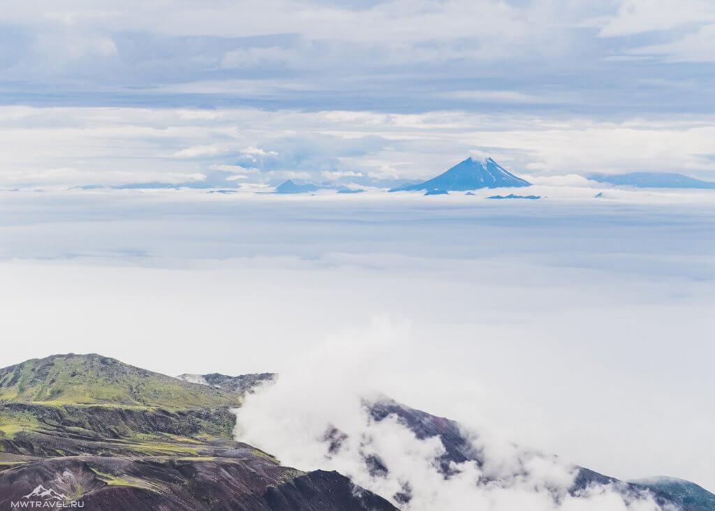 Поход по Камчатке: вид с авачинского вулкана