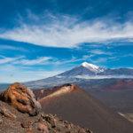 Trekking on Kamchatka volcano Tolbachik