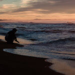 закат тихий океан халактырский пляж камчатка