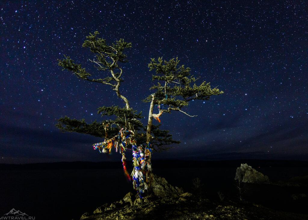 остров ольхон ночью
