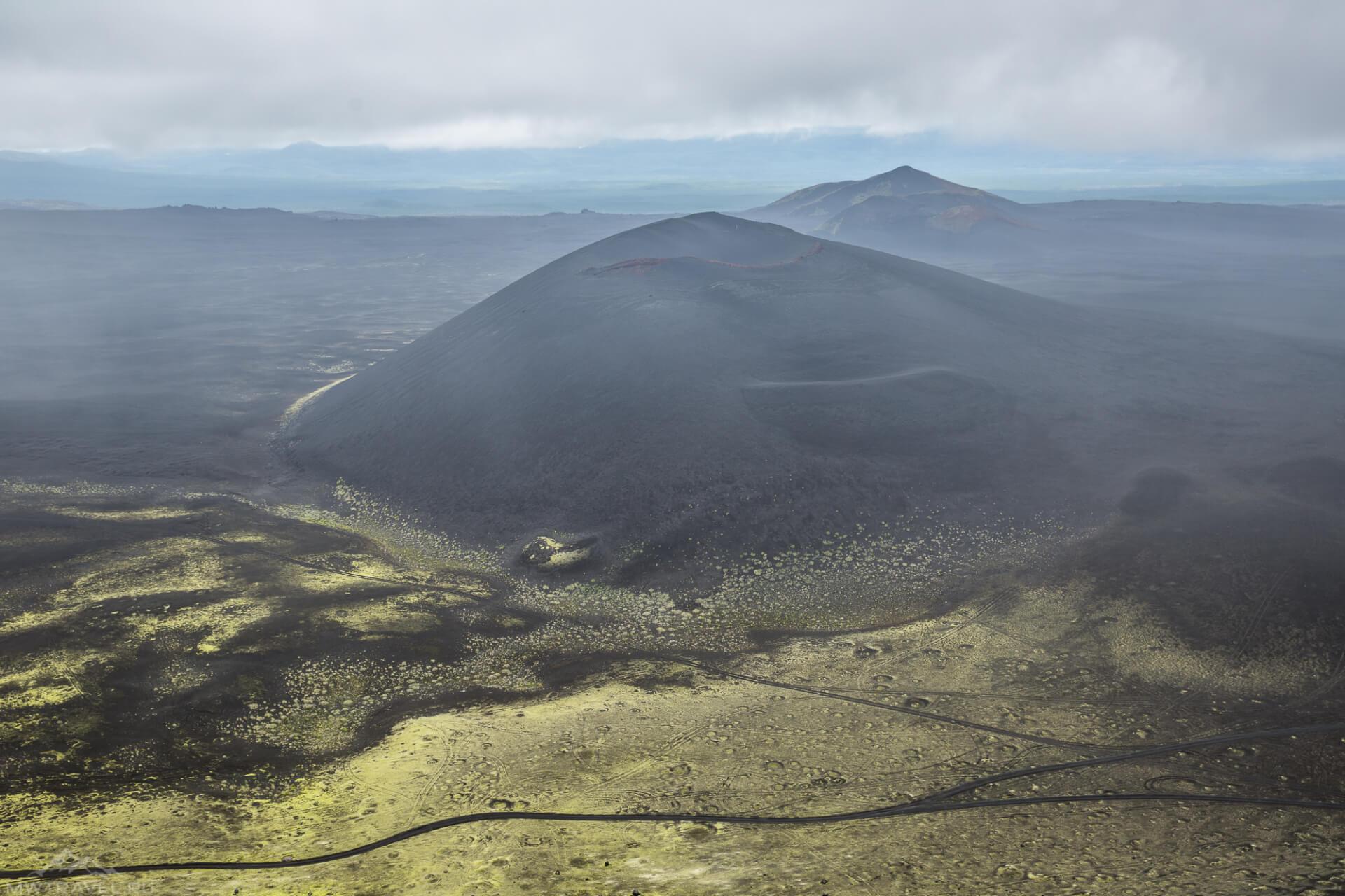 камчатка вид на вулканические конуса