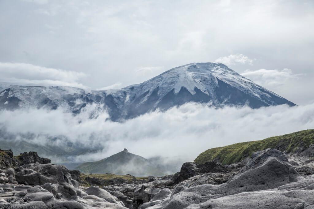 вид на вулкан толбачик