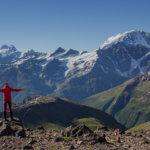 8 вид на большой кавказский хребет с эльбруса