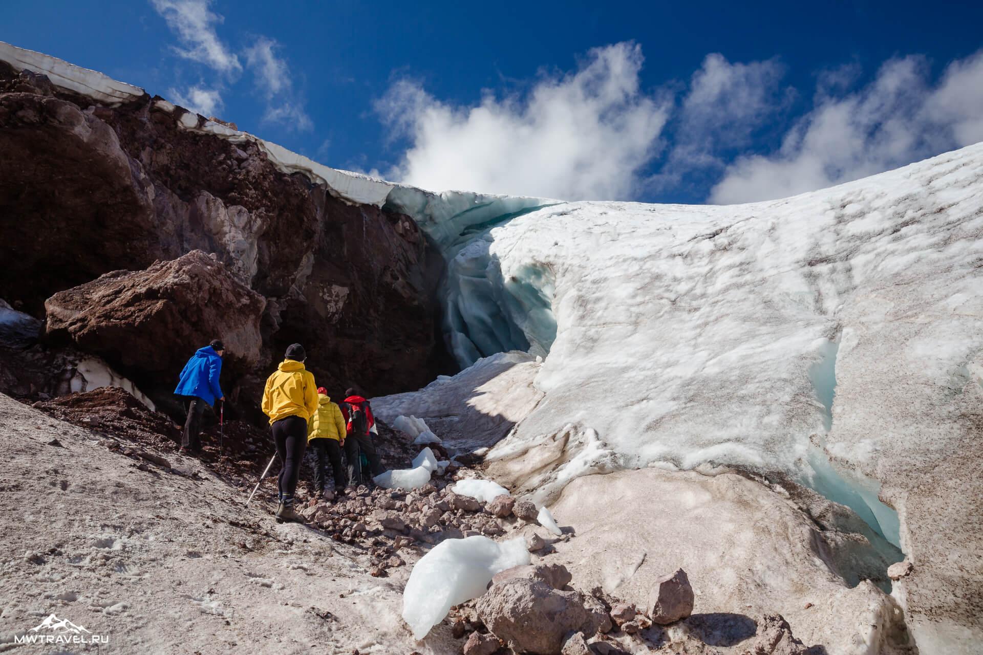 9 ледник в приэльбрусье
