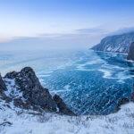 Байкал зимний вид