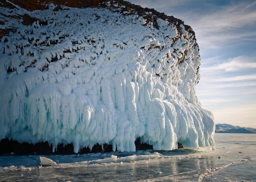 Лед на Малом море зимой