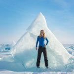 9. зимний лед байкала
