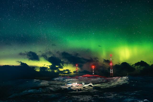 Северное сияние на севере