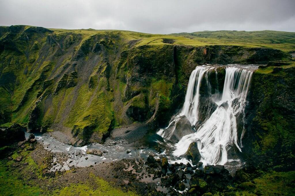 Путешествие по Исландии: река Скога