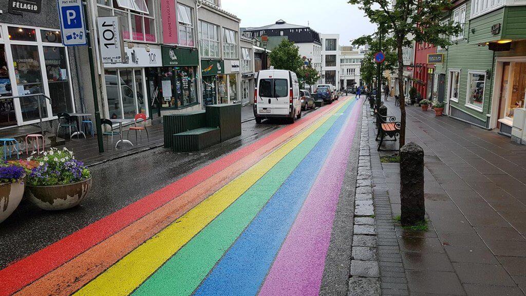 Путешествие по Исландии: улица Рейкьявике