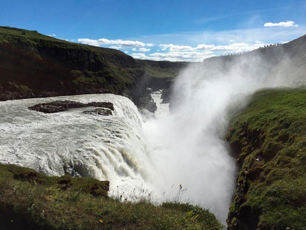 Путешествие по Исландии: водопад Gullfoss