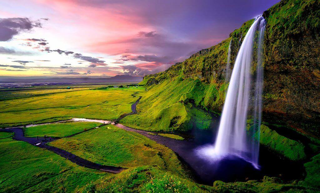 Путешествие по Исландии: водопад Сельяландсфосс