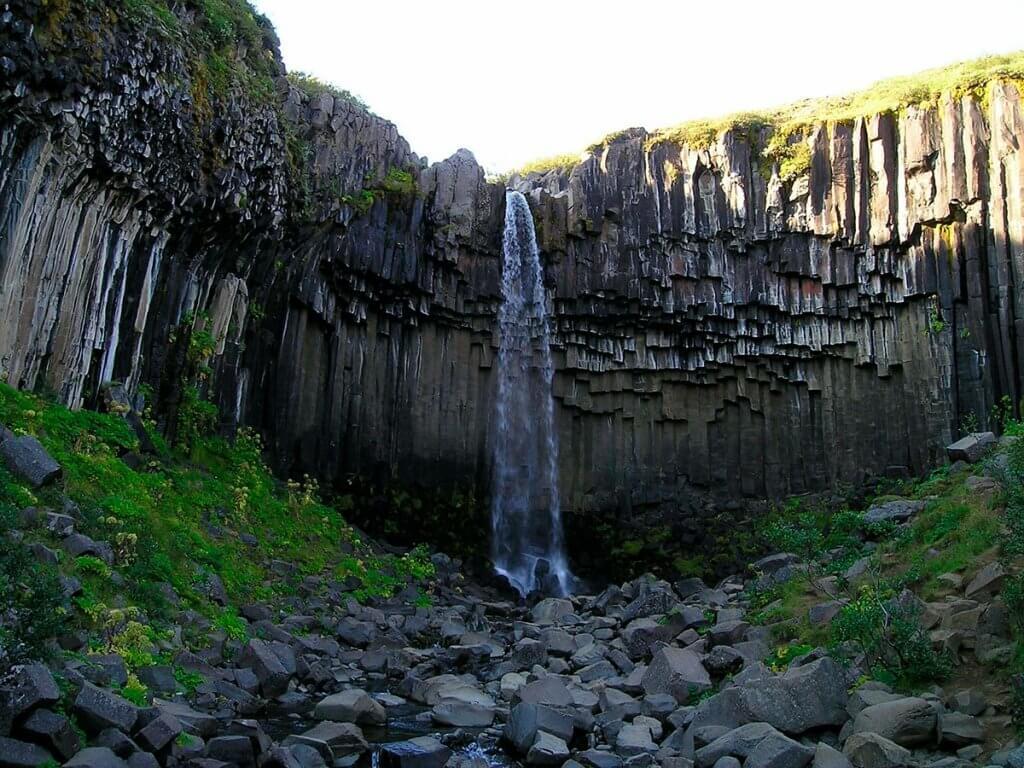 Путешествие по Исландии: водопад Свартифосс