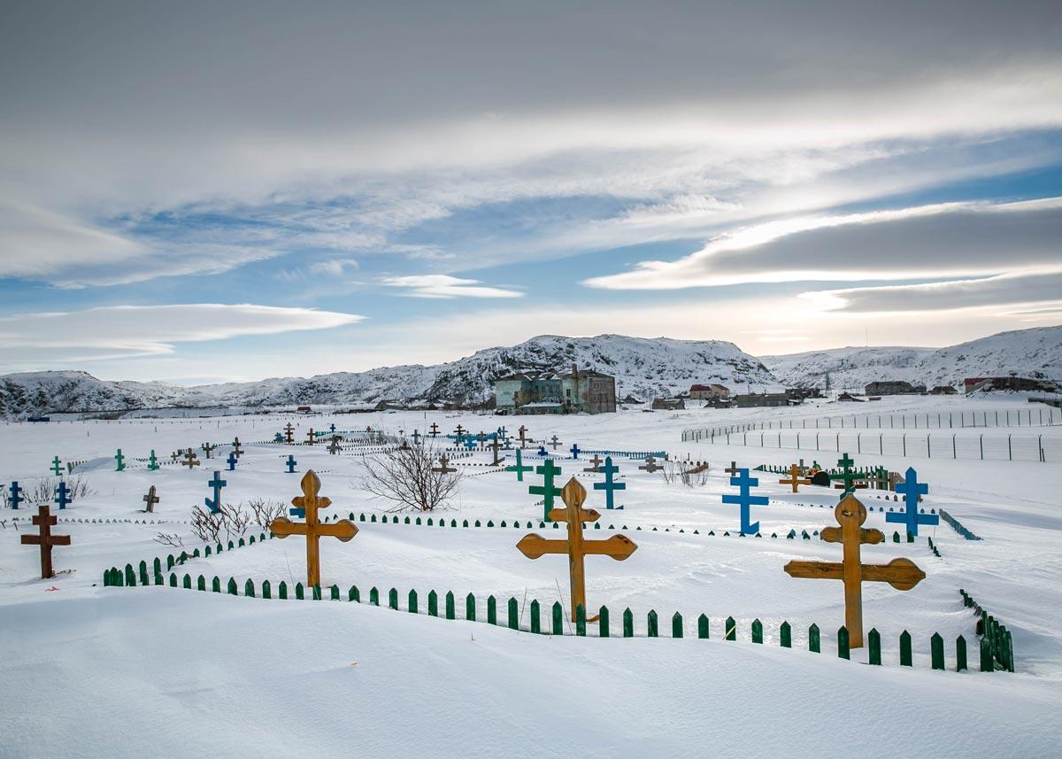Кладбище в старой Териберке