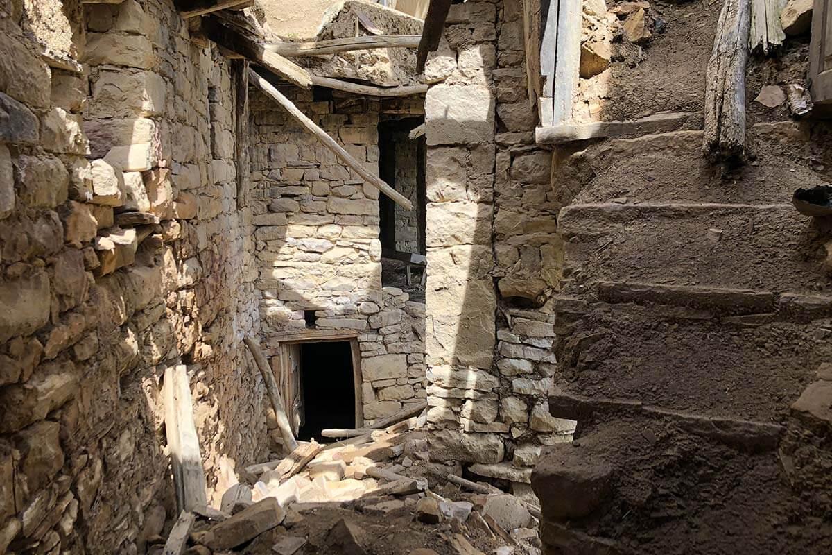 аул-призрак Гамсутль в Дагестане